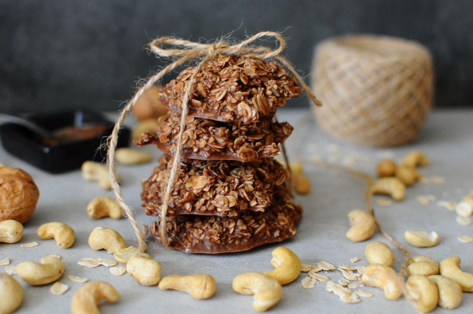 Čokoládovo-ovsené cookies