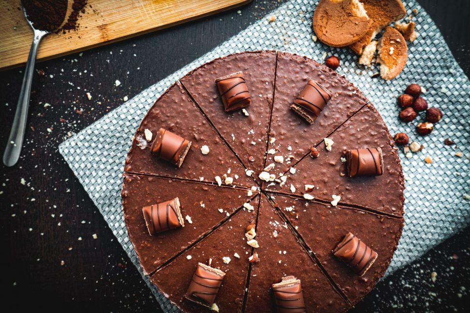 Nepečený cheesecake Kinder bueno