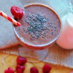 čokoládové smoothie, Malinovo-čokoládové smoothie s kokosovým mliekom